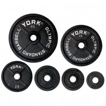 "York Barbell 2"" Legacy Cast Iron Precision Milled Olympic Plates"