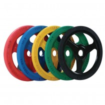 York Barbell Bumper Grip Plates