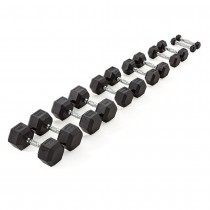 York Rubber Hex Dumbbell Stock Sets Without Rack