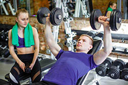 Pectoral-Exercise-man-on-bench