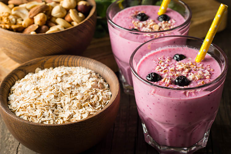 Healthy-Protein-Filled-Snacks-and-smoothies
