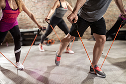 Workout with resistance bands