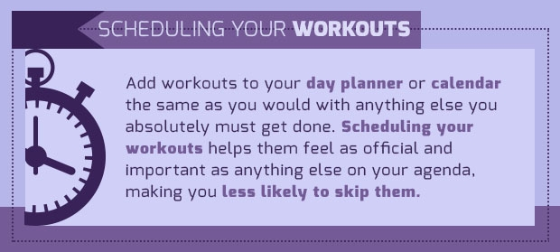 scheduling workouts quote